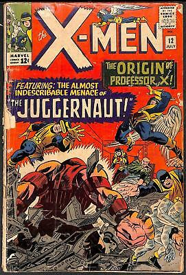X-Men #12 1st App Juggernaut GD-