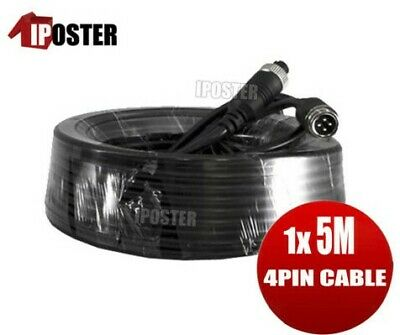 5M 4PIN Extention Cable Waterproof for 4PIN Monitor & Reversing Camera