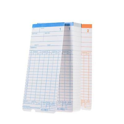 90pc/Pack Time Cards Monthly 2-Sided 18*8.4cm for Attendance Time Clock J2V0