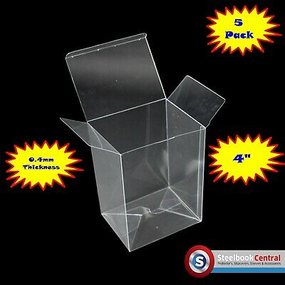 "FP1 Display Box Cases / Protectors For 4"" Funko Pop Vinyl Protector (Pack of 5)"