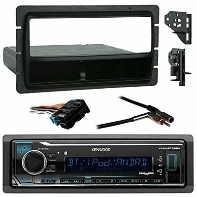 Kenwood Bluetooth Radio + Harness,Metra Install Kit (Fits most GM Cars), Antenna