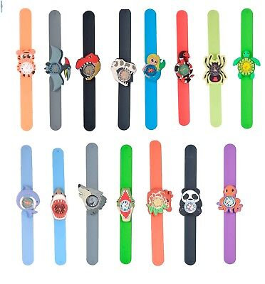Wild Republic Childrens Silicone Animal Snap / Slap Band Watch 15 Designs Unisex