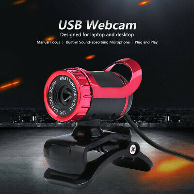 USB 2.0 50 Megapixel HD Camera Web Cam 360 Degree with MIC Clip-on for Skype PC