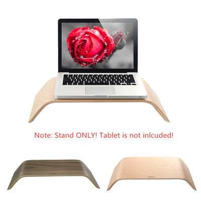 Universal PC Monitor Bamboo Stand Dock Holder Display Bracket for iMac V3H3