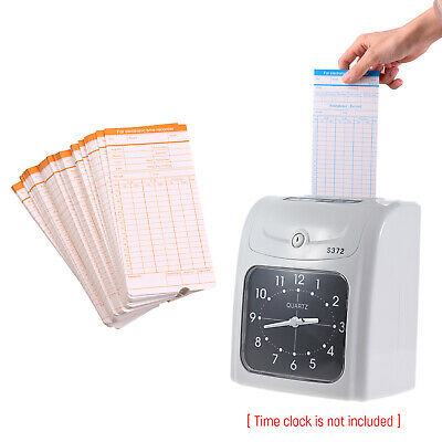 90pc/Pack Time Cards Monthly 2-Sided 18*8.4cm for Attendance Time Clock Z9Z4