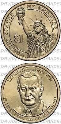 Stati Uniti Usa - 1 Dollaro  Presidenti 2015 - Lyndon B. Johnson - Zecca D