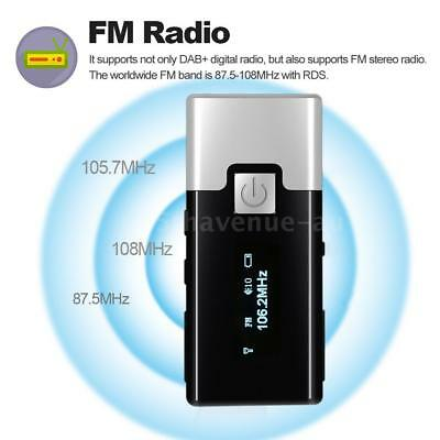 Portable Pocket Handheld DAB Receiver Digital FM Radio Rechargeable Battery X0R7