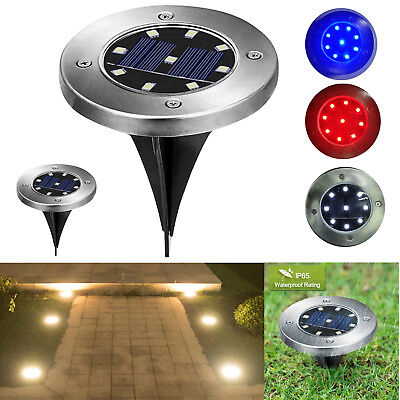 9 LED Solar Powered Buried Inground Light Garden Outdoor Pathway Lawn Lamp Decor