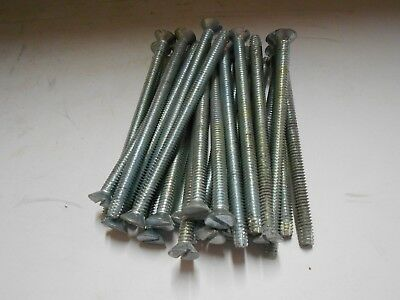 "NOS 1/4"" x 3 3/4"" Flat Head Slotted Machine Screws Self-Tapping  Lot of 25"