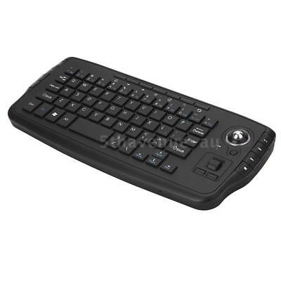 E30 2.4GHz Wireless Keyboard with Trackball Mouse Scroll Wheel Remote I5Q7