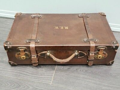 Vintage Leather American Suitcase