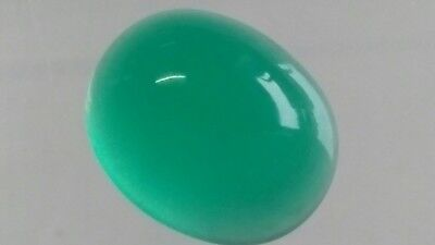 GRUENACHAT CABOCHON, 12x10mm oval, 4,45ct.