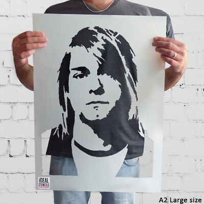 Kurt Cobain Nirvana Stencil Home Decor Portrait Art Wall Painting Reusable