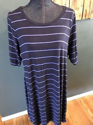 OLD NAVY Maternity Bodycon Dress Women's Black & White Striped Ruched Sz M