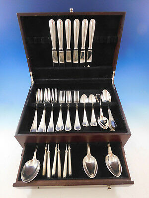 Perles by Christofle France Silverplate Flatware Set for 6 Dinner Service 43 pcs