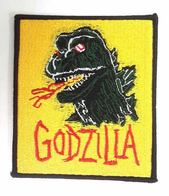 "Godzilla - Atomic Age Sci-Fi 3.5""x4"" Embroidered Patch - USA SELLER"