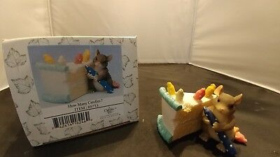 Fitz and Floyd Charming Tails HOW MANY CANDLES Item 89/713