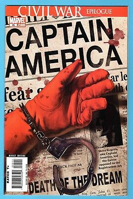 Death of Captain America #25  Steve Epting Cover 2007 Near Mint / Mint