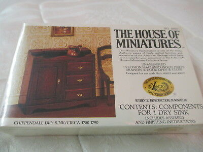 1970/'s X-Acto Miniatures Doll House Furniture Chippendale Wing Chair #40016 NIP