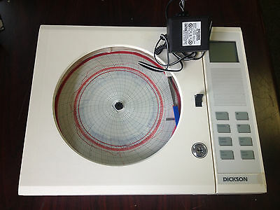 "Dickson THDX Chart C417 8"" 20/120 7D) Temperature Recorder w/ Power Adapter"