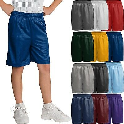 Kids Mesh Shorts Little BOYS & Girl Athletic 2T to 12Y Youth PE schools uniform