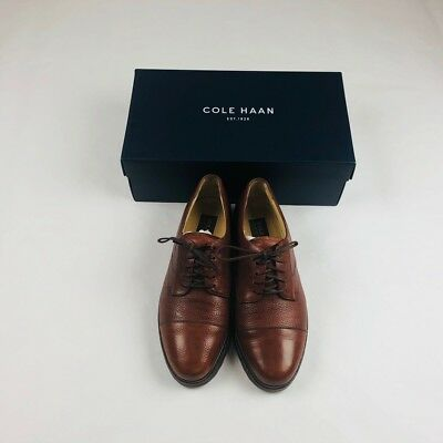 68d7c74fd89 Cole Haan Country Hughes Grand VNTN II Lace Up Chestnut Leather Mens Sz 8