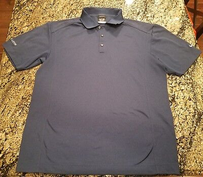 80f72024f7dc Nike Golf Mens Large Polo Dri Fit Blue Short Sleeve Shirt Kramer Levin  267020