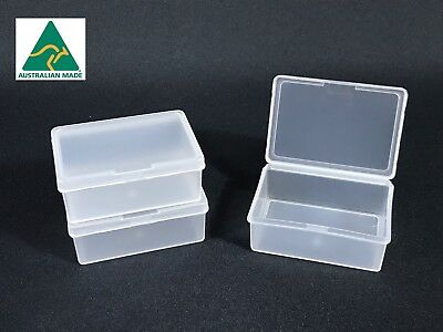 50 x Clear Plastic Storage Containers Boxes with Lids Rectangle Mini NEW