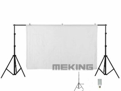 Adjustable studio shooting Backdrops Support System Stand Crossbar Kit 2x2m 6.6
