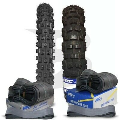 Irc 70/100-16 Front & 90/100-14 Rear Knobby Motocross Tyre Set Crf80 & Crf100 &