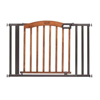 Pressure Mounted Gate Decorative Wood Metal Security 32 Inches Summer Infant