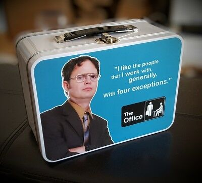 Super rare full size The Office Dwight Schrute official promo metal lunch box