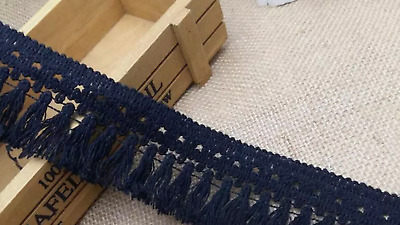 Black 5cm Trim Tassel Fringe Cotton Lace Ribbon Price per 30cm DIY Craft