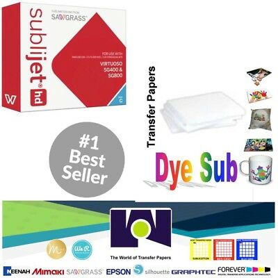Sawgrass Virtuoso Sublimation Ink Cartridge SG400/SG800 Cyan + 100 Sh SUBLIPAPER