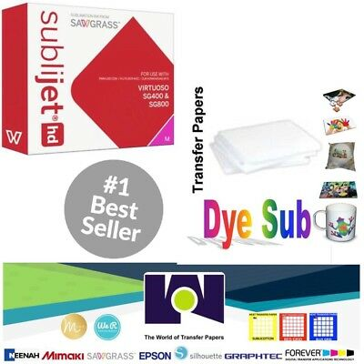 Sawgrass Virtuoso Sublimation Ink Cartridge SG400/SG800 Magenta+100Sh SUBLIPAPER