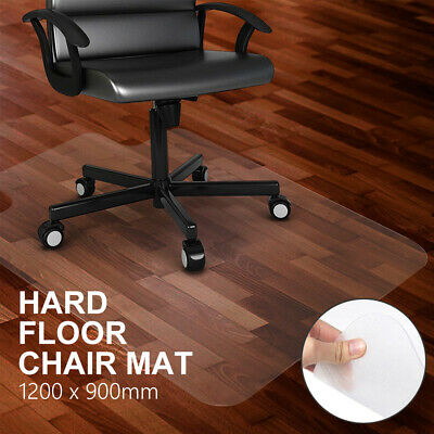 New Hard Floor Chair Mat Thick Vinyl Protect Plastic Office Work 120 x 90cm