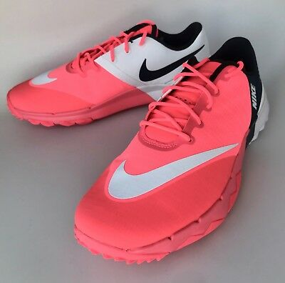 069383f4baf00 SIZE 8 NIKE Fi Flex Women s Golf Shoes Pink Navy White New 849973 ...