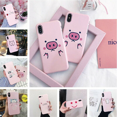 Shockproof Flower Cute Pink Cat Pattern Hard Case Cover For iPhone 8 6s 7 Plus X