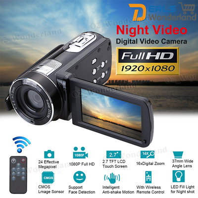"3.0"" HD 24MP 1080P 18X Digital DV Camcorder Infrared Night Video Recorder Camera"