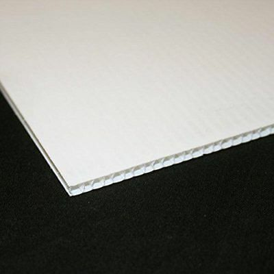 White Plastic Fluted 3.8mm Correx Board. A5-A1 For outdoor display and signage