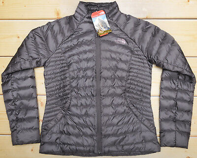 THE NORTH FACE TONNERRO - 700 DOWN insualated WOMEN'S GREY SWEATER JACKET - M