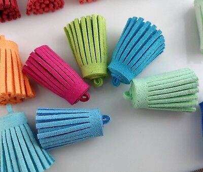 Suede Tassel - 30mm Choose Your Colour - DIY Jewelry Keyring Faux Leather TSS102