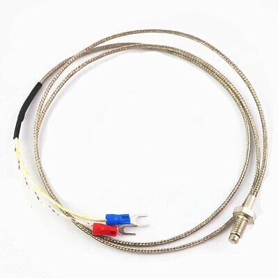 5Pcs Thermocouple Temperature Controller E Type K Type M6 M8 Screw Thread Wire