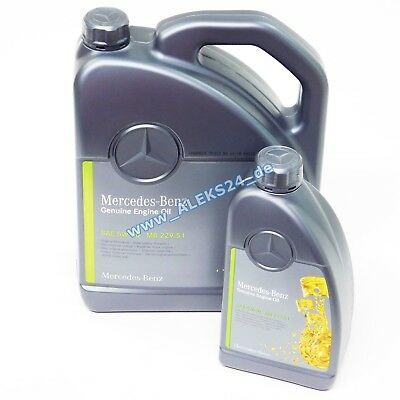 Original mercedes synthetic engine oil service 5w30 mb 229 for Mercedes benz synthetic oil