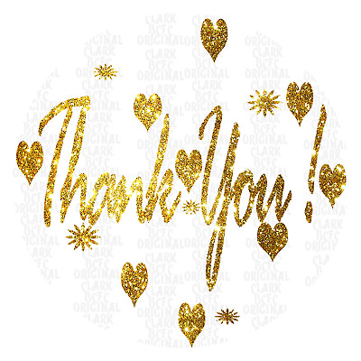 x105 - x140 Thank You Gold Silver + More Gift Labels Sweet Stickers Cone Bags