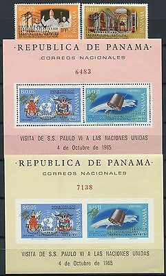 80 / Space Raumfahrt 1968 Panama Papst Pope Satellit 1097-1098 Block 96 A/B RAR