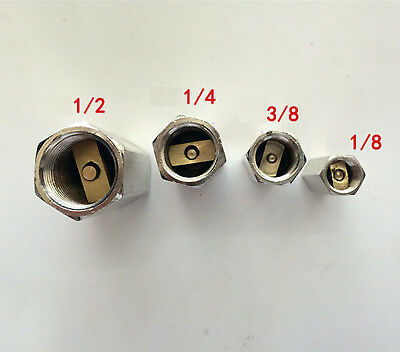 "4pc BSPP Female Full Ports One Way Air Check Valve 1/8"" 1/4"" 3/8"" 1/2"""