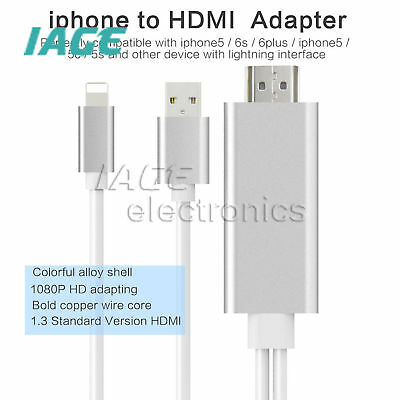8 Pin Lightning zuHDMI TV AV Adapter Cable für Android iPad iPhone 6S 7 Plus