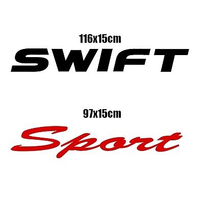 2x SWIFT SPORT Suzuki cool car, bumper, slogan vinyl decal/sticker