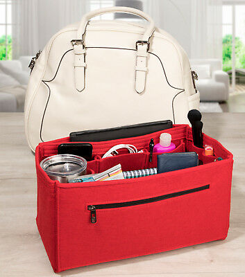 Pocket Genie Felt Handbag Organiser (Beige, Grey. Pink, Red)